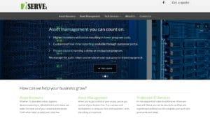 iserve inc web site screenshot.